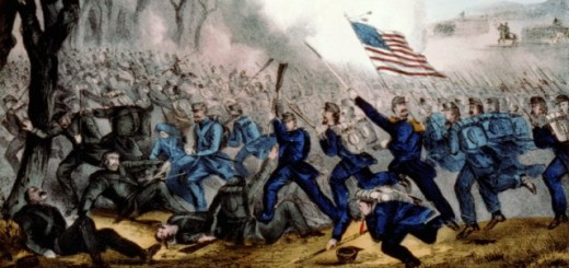 Detail of Battle of Mill Springs by Currier and Ives