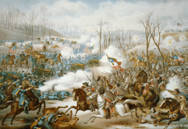 Battle of Pea Ridge by Kurz and Allison