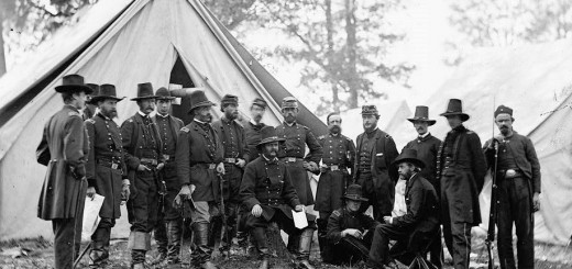 Gen. Ambrose Burnside and staff in Nov. 1862