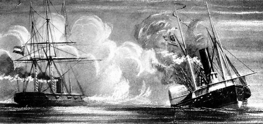 CSS Alabama sinks USS Hatteras