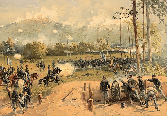 Battle of Kennesaw Mountain by Thure de Thulstrup
