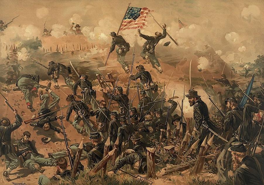 Siege of Vicksburg by Thure de Thulstrop
