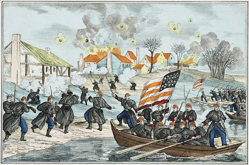 Crossing the Rappahannock River at Fredericksburg