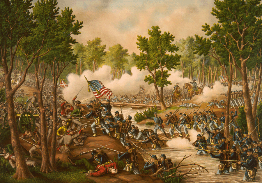 Battle of Spottsylvania by Kurz and Allison