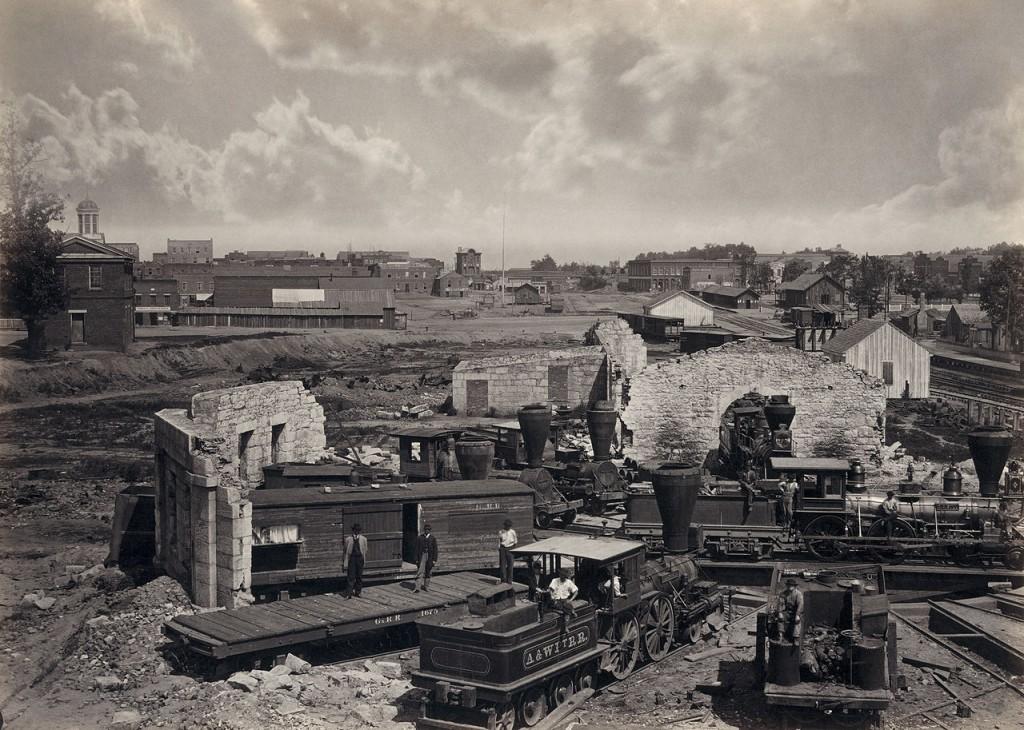 Destroyed Railroad Roundhouse in Atlanta September 1864