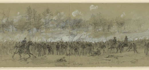 Grover's Division of the 19th Corps in Action at Opequon by Albert Waud