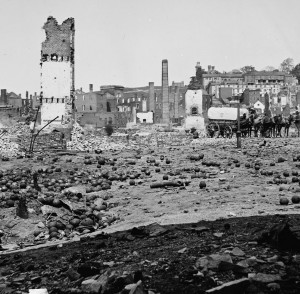 Ruins of Richmond arsenal April 1865