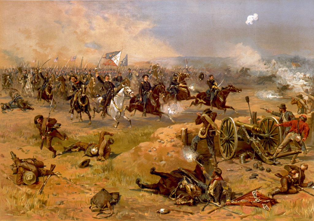 Sheridan's Final Charge at Winchester by Thure de Thulstrup