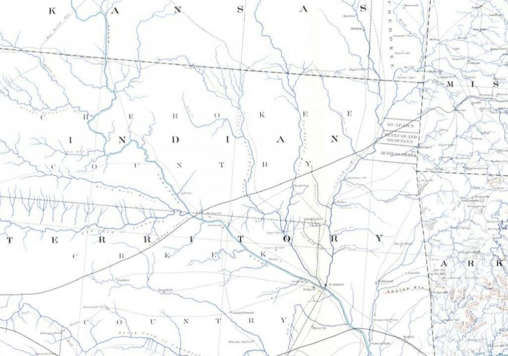 Map Showing Area of Gen. Stand Watie's Operations