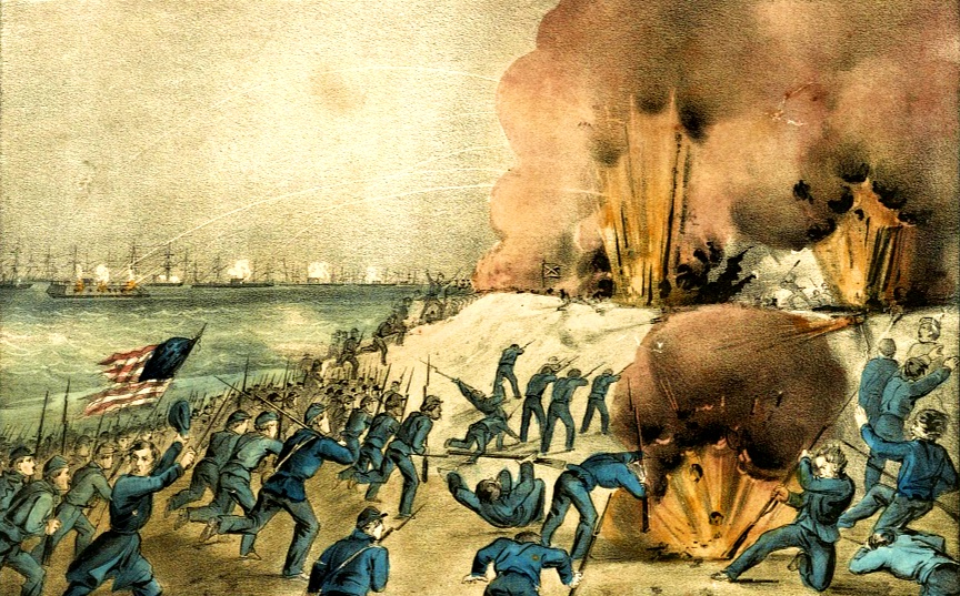 Bombardment and Capture of Fort Fisher NC Jan 15 1865 by Currier and Ives