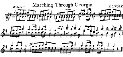 Marching Through Georgia by Henry Clay Work