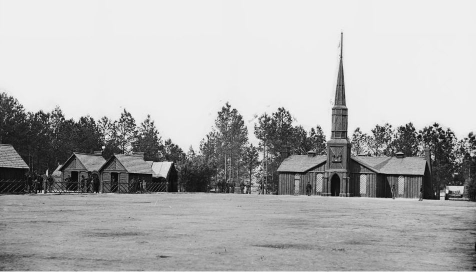Officers Quarters and Church of the 50th New York Engineers at Petersburg