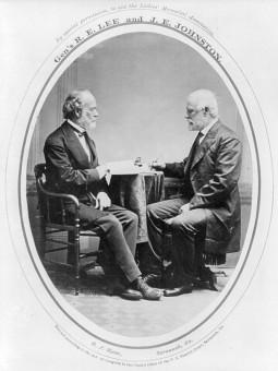 Post War Image of Robert E. Lee and Joseph E. Johnston