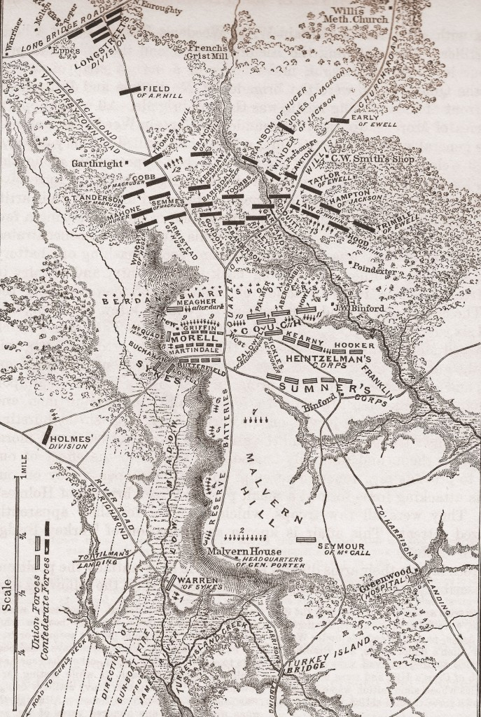 Map of the Battle of Malvern Hill