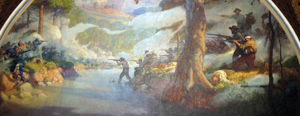 Battle of Wilson's Creek by N.C. Wyeth