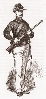 Cavalryman in Regular U.S. Army 1861