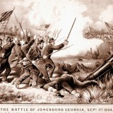 Battle of Jonesboro by Currier and Ives