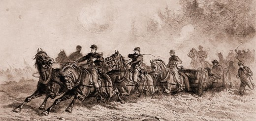 Horse Drawn Artillery by Edwin Forbes