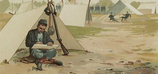 Union Soldier in Shelter Tent