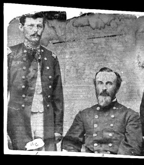Lt. Col. William Denslow, left, and Col. Jonathan Tarbell,of the 91st New York Infantry