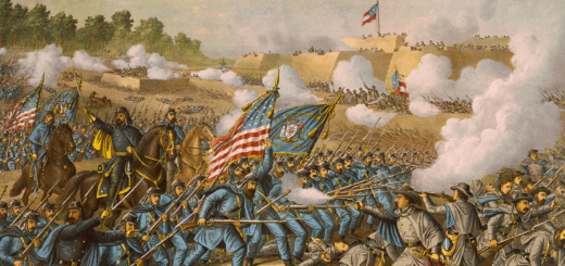Battle of Williamsburg Virginia May 5 1862 by Kurz and Allison.  Note the 5th Wisconsin flag in the center.