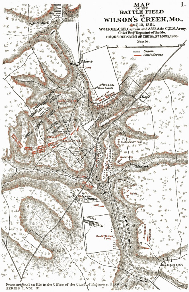 Map of Battle of Wlson's Creek