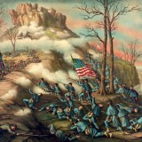 Battle of Lookout Mountain by Kurz and Allison