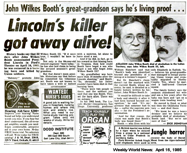 John Wilkes Booth Facts and Trivia | Iron Brigader