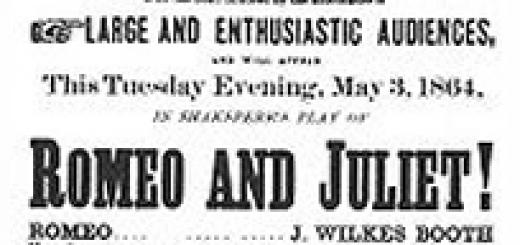 John Wilkes Booth starring as Romeo
