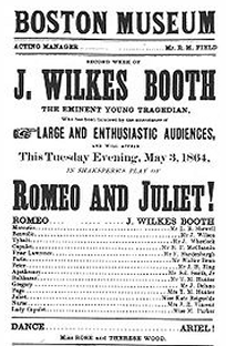 John Wilkes Booth starring as Romeo