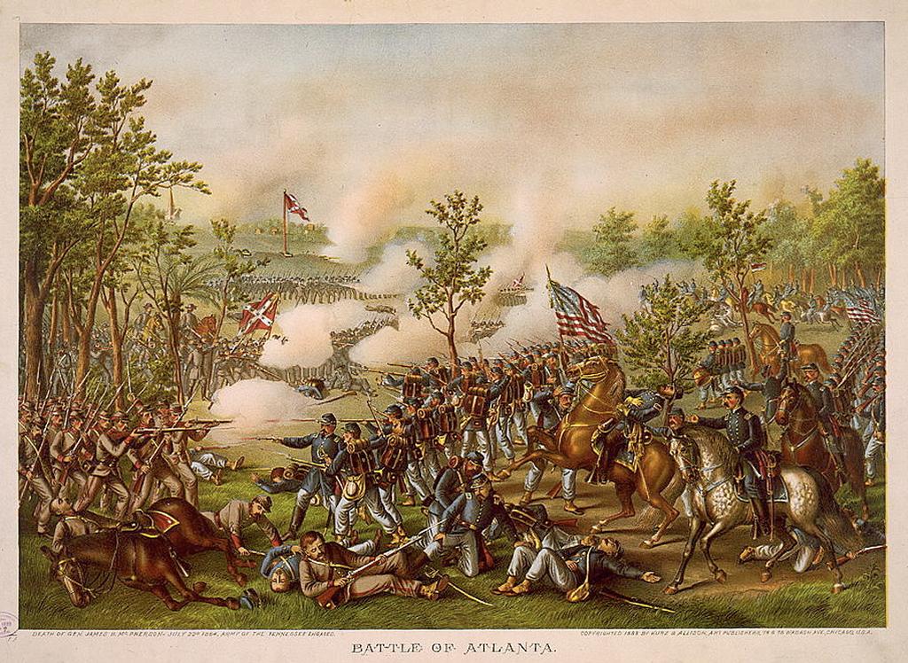 Battle of Atlanta by Kurz and Allison