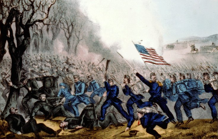 Battle of Mill Springs by Currier & Ives
