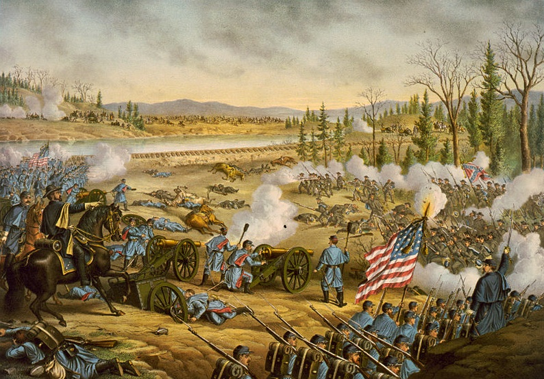 Battle of Stones River by Kurz and Allison