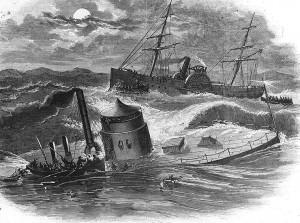 USS Monitor sinking 31DEC1862