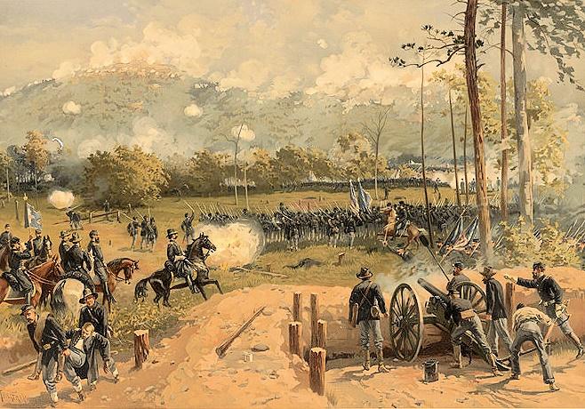 Battle of Kennesaw Mountain by Thure de Thulstrup