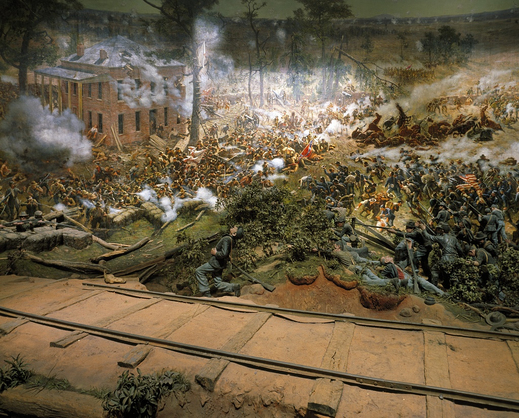 The battle of atlanta cyclorama iron brigader for Painting places in atlanta