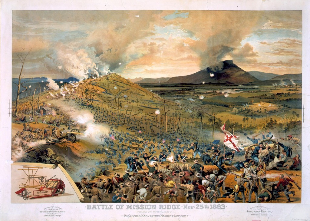 Battle of Missionary Ridge by McCormick Harvesting