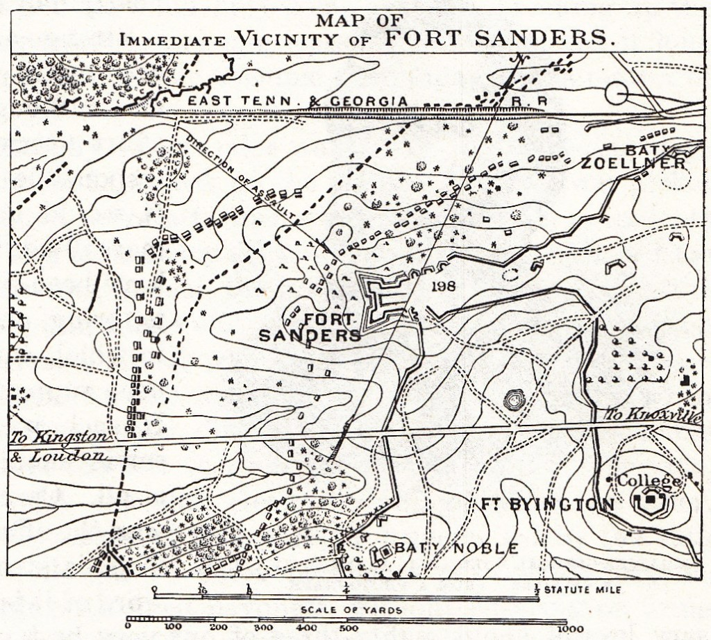 Fort Sanders Vicinity Map