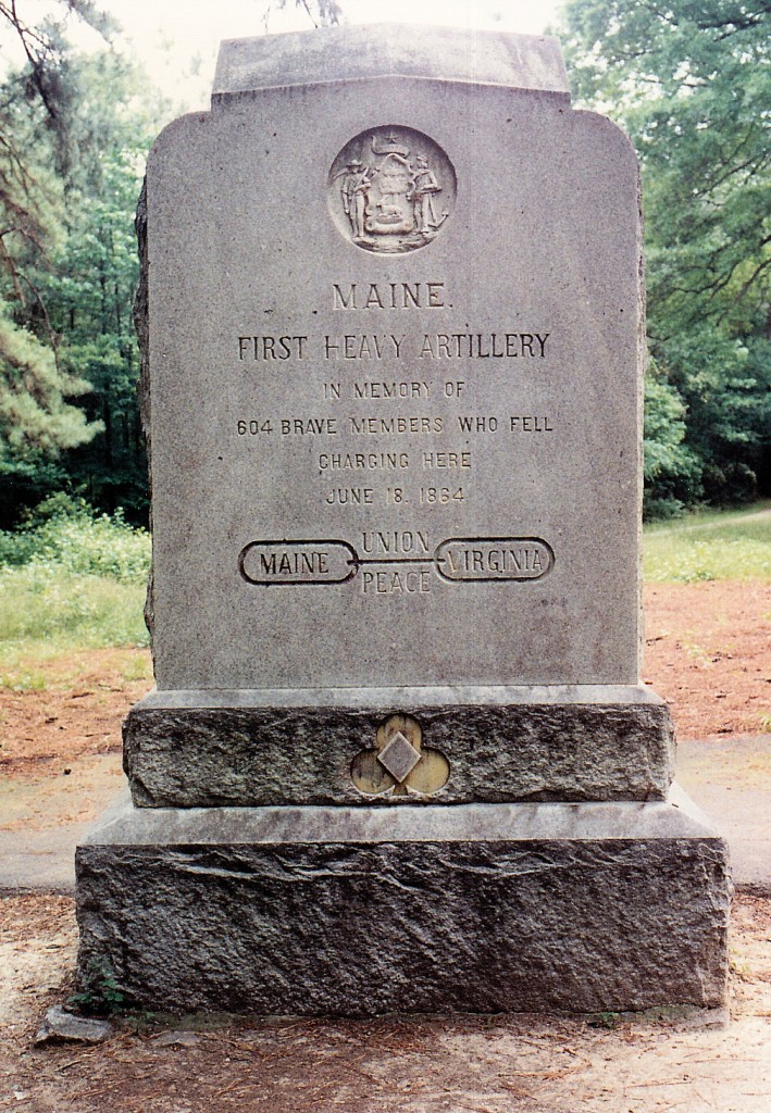 1st Maine Heavy Artillery Monument at Petersburg NB