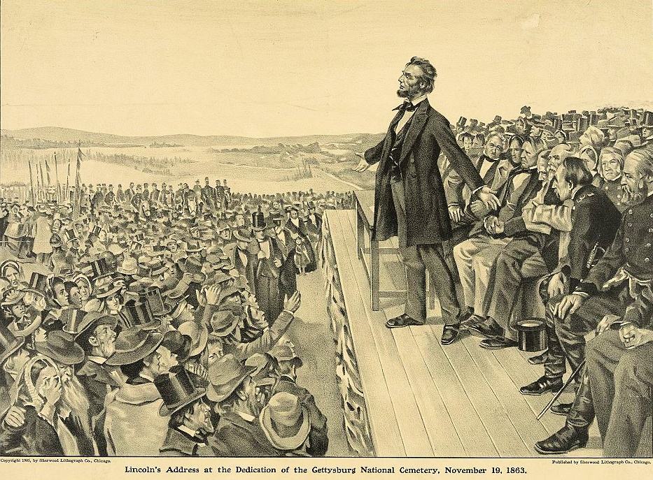Lincoln Delivering the Gettysburg Address