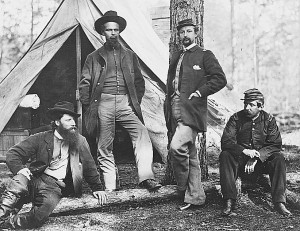 Officers of the 10th Mass. Battery at Brandy Station December 1863