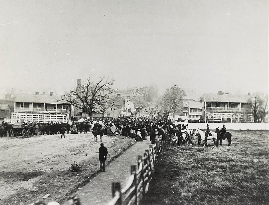 Procession to Gettysburg Cemetery Nov 19 1863