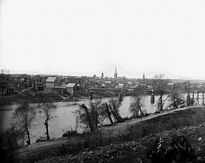 Fredericsburg VA from east bank of the Rappahannock River