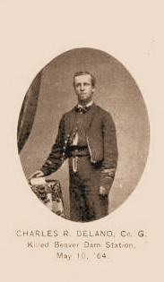 Pvt Charles Delano 1st Maine Cavalry Co. G