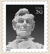 Abraham Lincoln 20 Cent Stamp