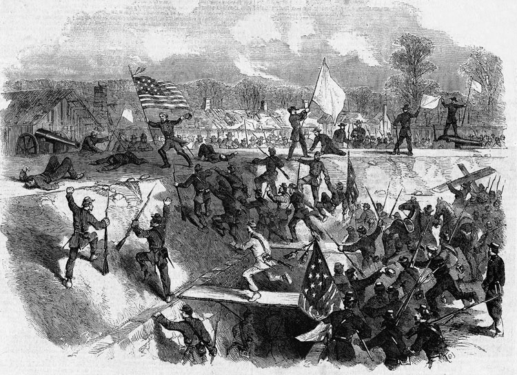General Stephen Burbridge Planting the Colors at Arkansas Post
