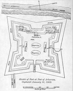 Sketch of Fort at Post of Arkansas