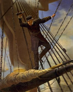 Admiral Farragut Lashed to the Rigging at the Battle of Mobile Bay