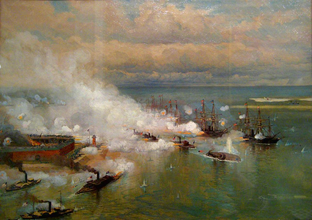 Passing Fort Morgan and the Torpedos Battle of Mobile Bay