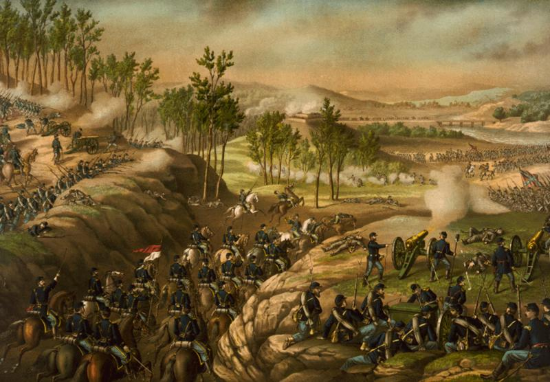 Battle of Resaca 1864 by Kurz and Allison